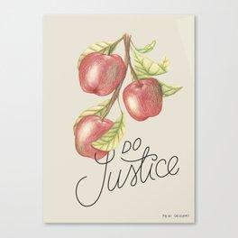 Do Justice | Botanical illustration | Lettering artwork Canvas Print
