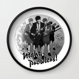 Night Prowlers Wall Clock