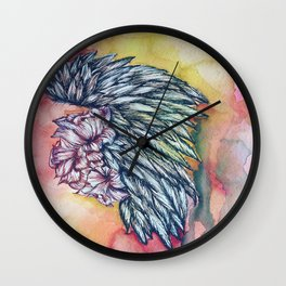 Winged roses Wall Clock