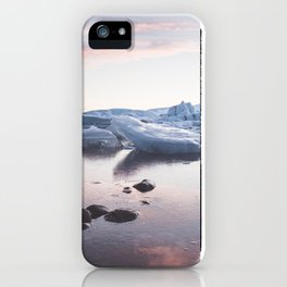 Sunset over Glacier Lagoon - Landscape and Nature Photography iPhone Case