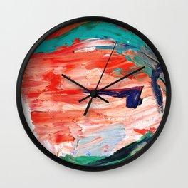 Cycladic Face Wall Clock