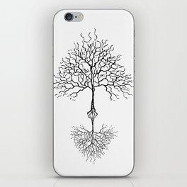 Tree of life meaning white iPhone Skin