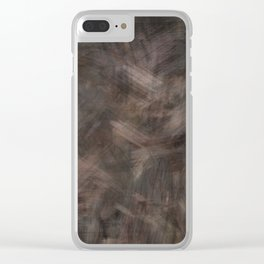Brown dark misty look Clear iPhone Case