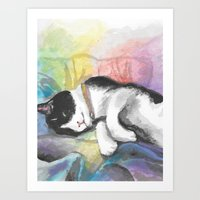 Sushi the Cat - Watercolour Art Print
