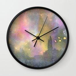 Paris in the Rain Wall Clock
