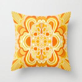 commune mandala Throw Pillow