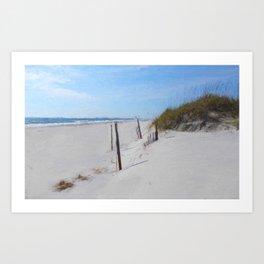 Van Gogh's Beach Art Print