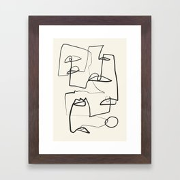 Abstract line art 12 Framed Art Print
