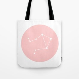 Libra Star Sign Soft Pink Circle Tote Bag