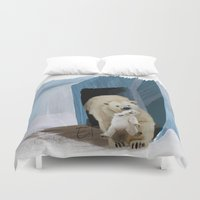 bears Duvet Covers featuring Bears by Elena Napoli