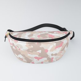 Modern Camo Pattern, Multicolor Camouflage Fanny Pack