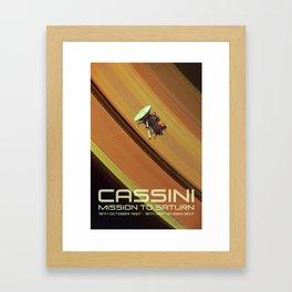 Cassini 1997-2017 Framed Art Print