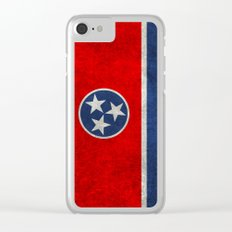 Tennessee State flag in Vintage Retro Style Clear iPhone Case