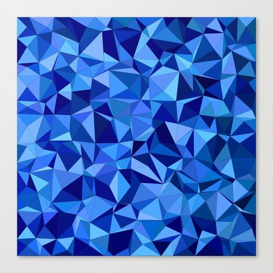 Blue tile mosaic Canvas Print