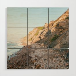 Mohegan Bluffs, Block Island Wood Wall Art
