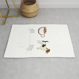 Jack Russell terrier Shirt Coffee And Jack Russell terrier T-Shirt Rug