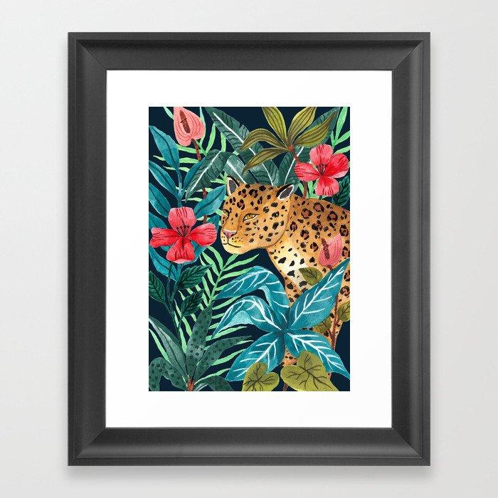 Wild Leopard Gerahmter Kunstdruck