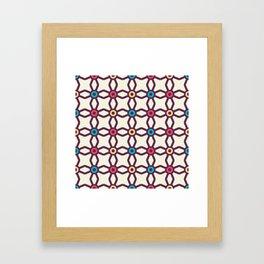 Connecting Stars Boho Pattern Framed Art Print
