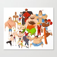 street fighter Canvas Prints featuring Street Fighter by Peerro