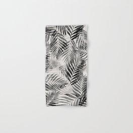 Palm Leaves - Black & White Hand & Bath Towel