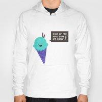 ice cream Hoodies featuring ICE CREAM by Sof Andrade