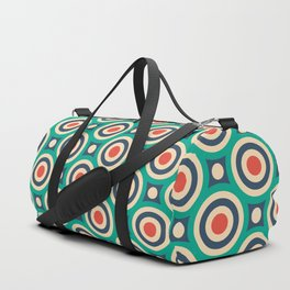 Mid Century Modern Circles Retro Bullseye Pattern Duffle Bag