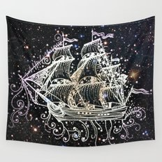 The Great Sky Ship II Wall Tapestry