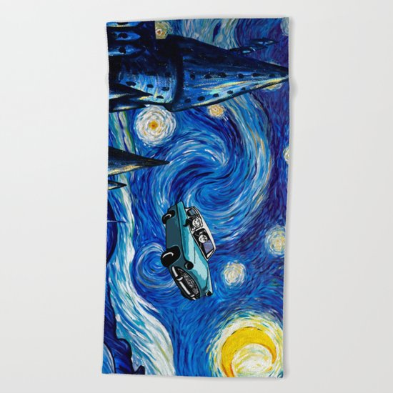 Harry And Ron on The Flying Car Beach Towel