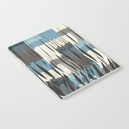Abstract Graphic Ribbons Notebook