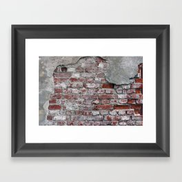 Brick Wall Framed Art Print
