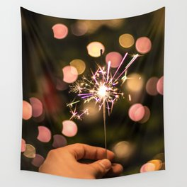 Sparkler (Color) Wall Tapestry