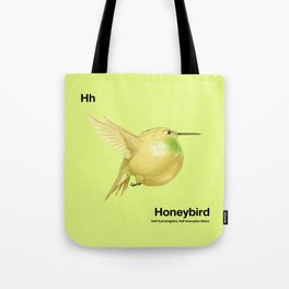 Hh - Honeybird // Half Hummingbird, Half Honeydew Melon Tote Bag