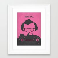 annie hall Framed Art Prints featuring No147 My Annie Hall minimal movie poster by Chungkong