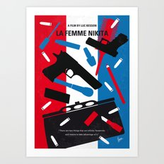 No545 My La Femme Nikita minimal movie poster Art Print