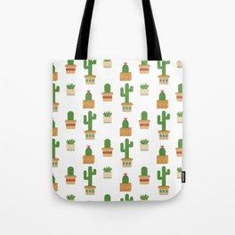 Southwestern Cactus Pattern Tote Bag