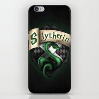 slytherin iPhone & iPod Skins featuring Slytherin Crest by Sharayah Mitchell