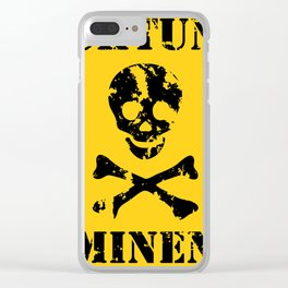 Achtung Minen Clear iPhone Case