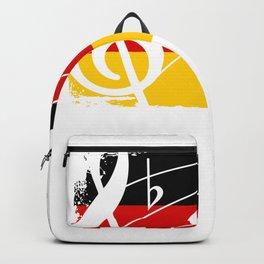 Germany Music Flag Backpack