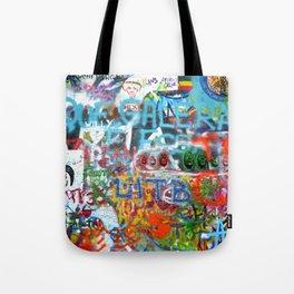 grafitti wall Tote Bag