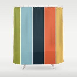 Summer stripes part 3 #eclecticart Shower Curtain