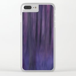 Painted Trees 2 Purples Clear iPhone Case