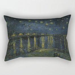 Starry Night Over the Rhone by Vincent van Gogh Rectangular Pillow