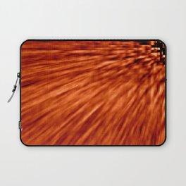Burnt Orange Pixel Wind Laptop Sleeve