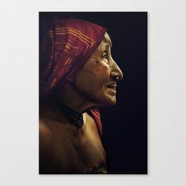 KUNA WOMAN. Panama. Canvas Print