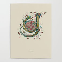 Celtic Initial Y Poster