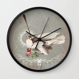 Meme les oiseaux meurent /1 Wall Clock