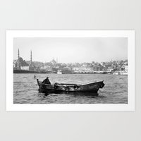 boat Art Prints featuring Boat by kartalpaf