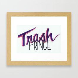 trash prince Framed Art Print
