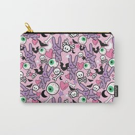 Pastel Goth Bunny Eyeball Carry-All Pouch
