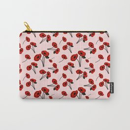 August birth flower Poppy Carry-All Pouch